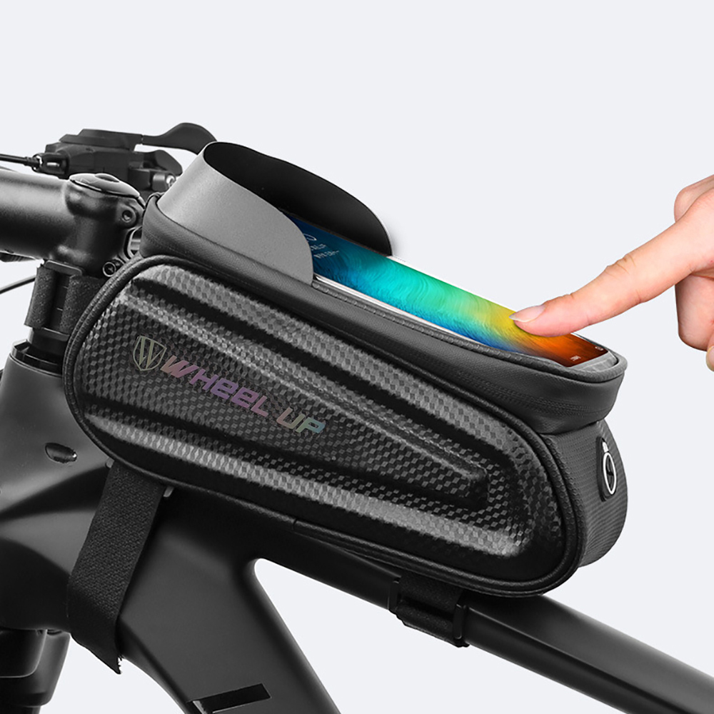 Waterproof MTB Mountain Bike Frame Front Bag Cycling Bicycle Mobile Phone Holder