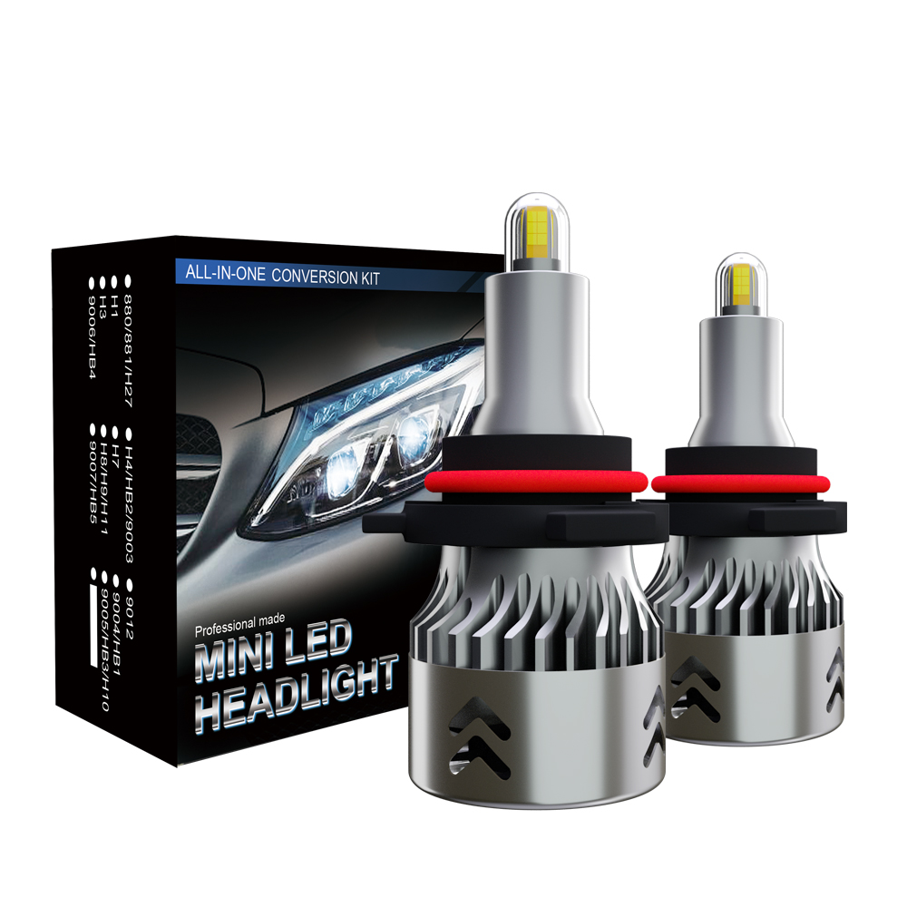 6000K 10400 Lumens Extremely Bright HB3 CSP Chips Conversion Kit BOSWEE 9005//HB3//H10 LED Headlight Bulbs