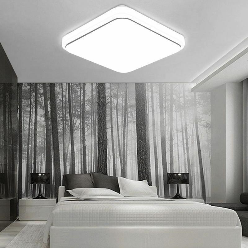 Modern Square LED Ceiling Down Light Panel Bathroom Living Room Lamp 12W 24W 36W