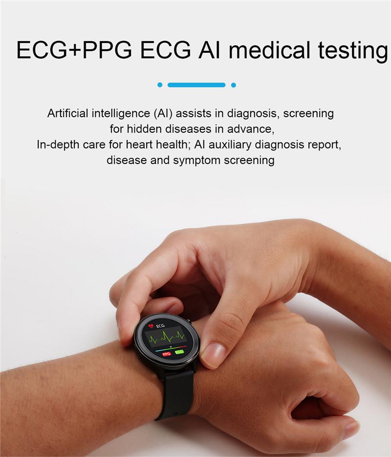 2020 Bluetooth Smart Watch Körper Temperatur Test..