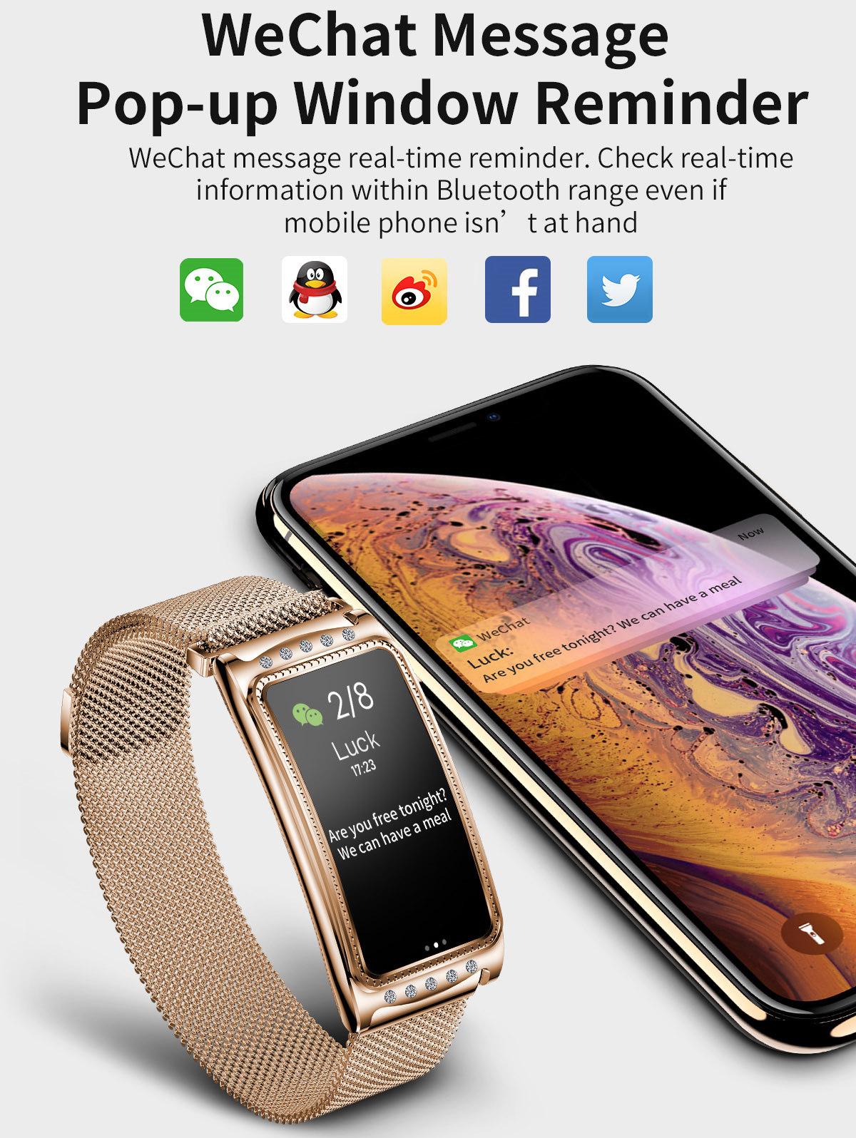 Damen Smartwatch Herzfrequenz Fitnesstracker Blutdruck..