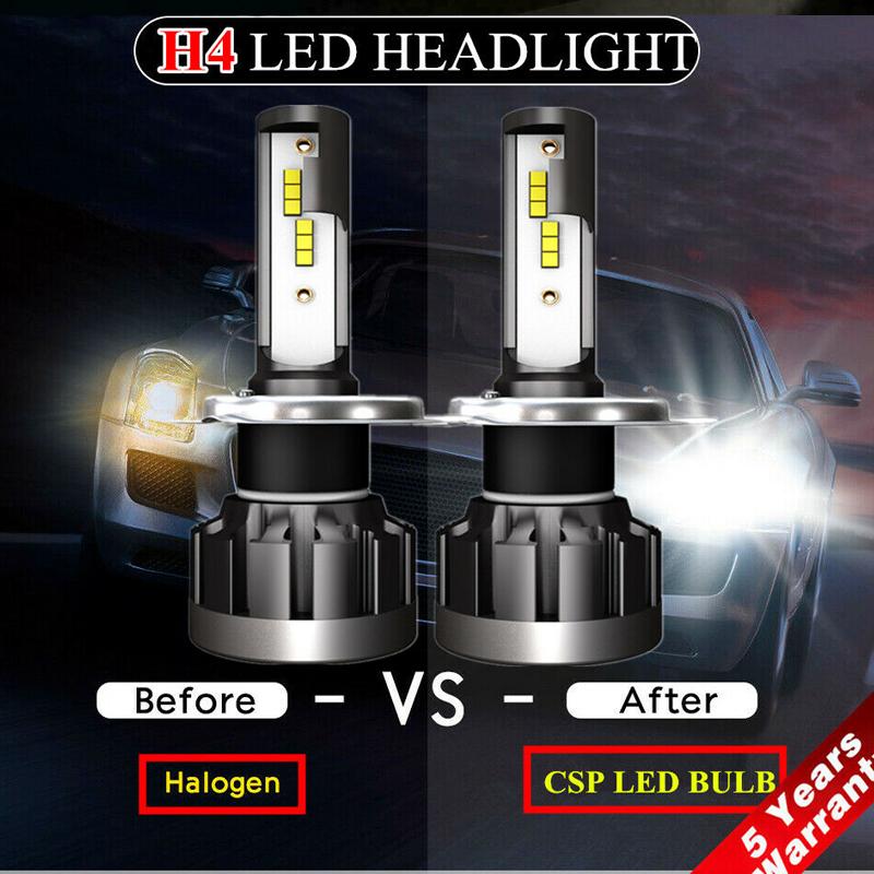 Pair H4 2200W Car CREE CSP LED Headlight Kit Canbus Lamp 550000LM 6000K White