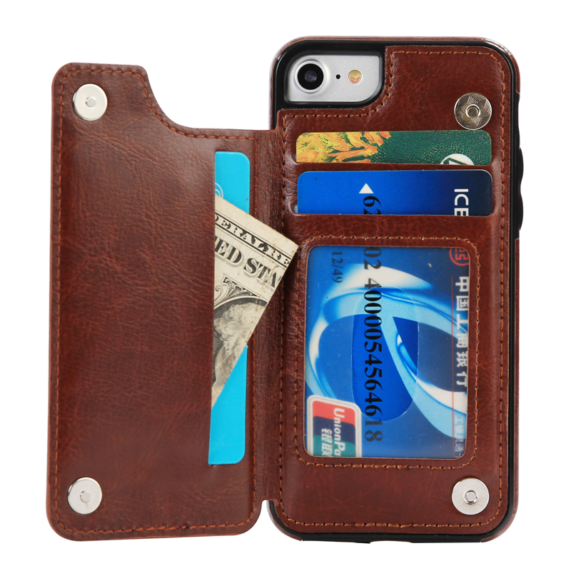 iphone 5 wallet cases luxury flip leather card wallet shockproof back cover 3072
