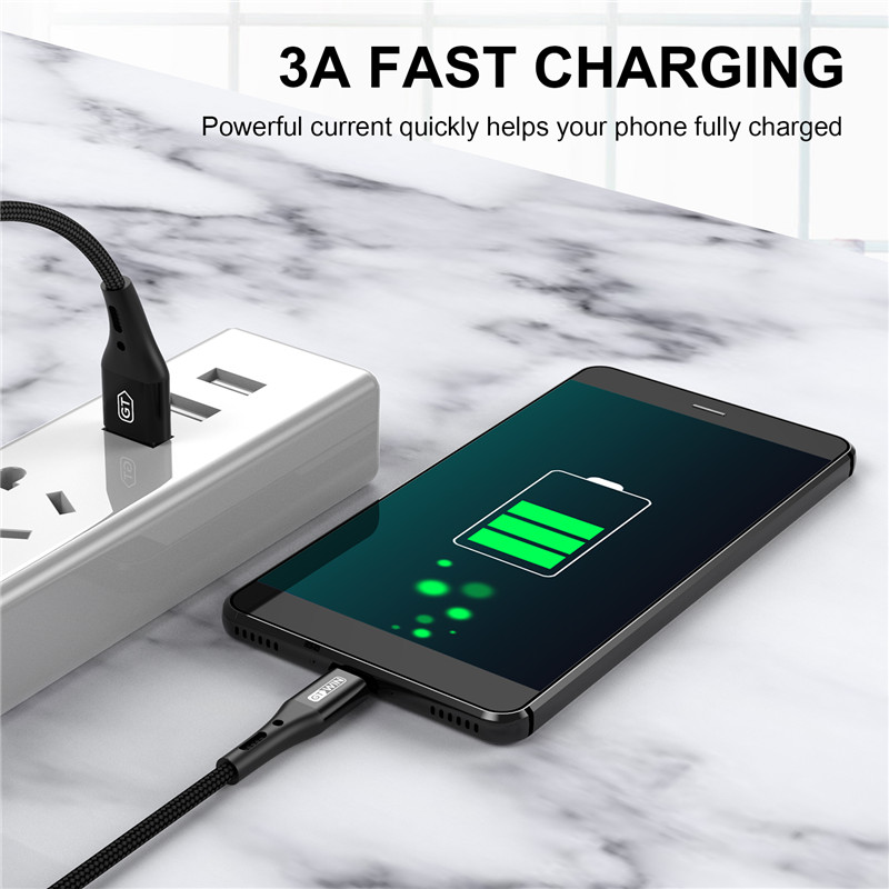 GTWIN 3A Micro USB Charger Cable Fast Charging Lead For