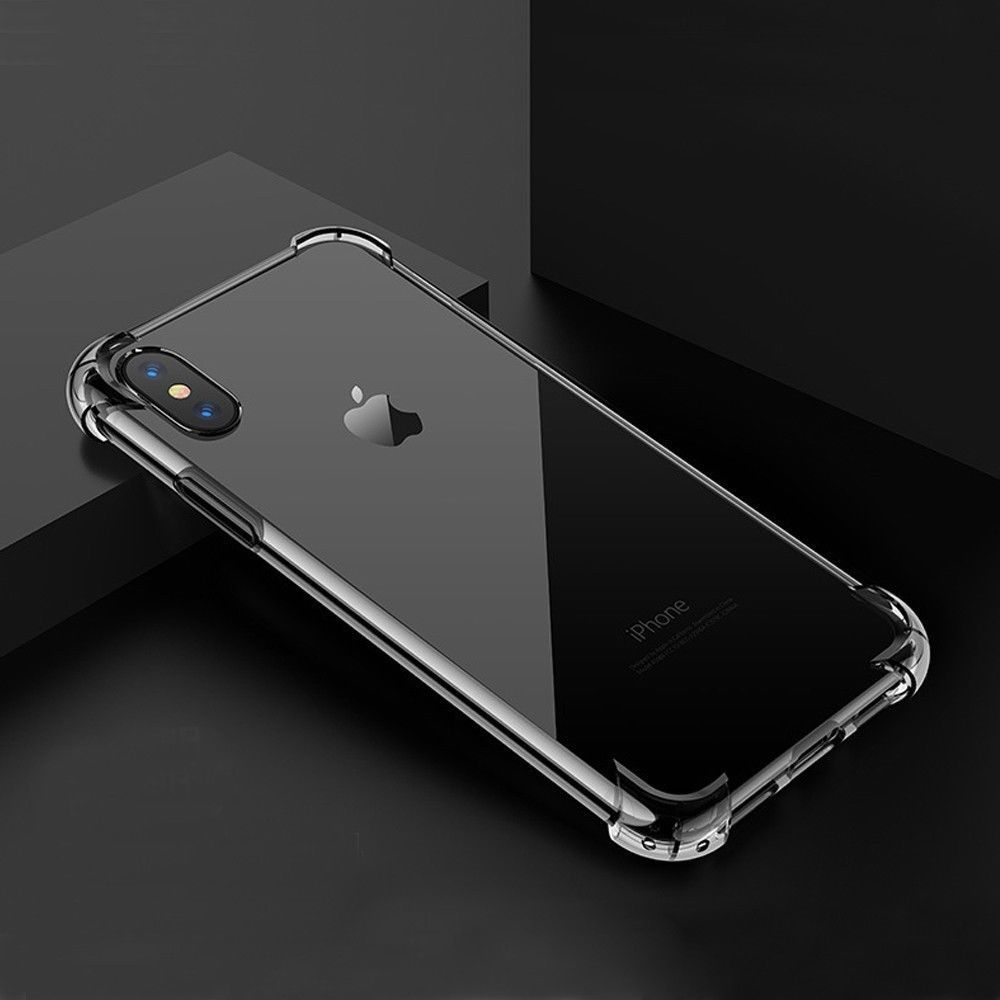 1bea6be21c Details about Hybrid Shockproof Clear TPU Hard Bumper Case For iPhone X 7 8  Plus XR XS MAX