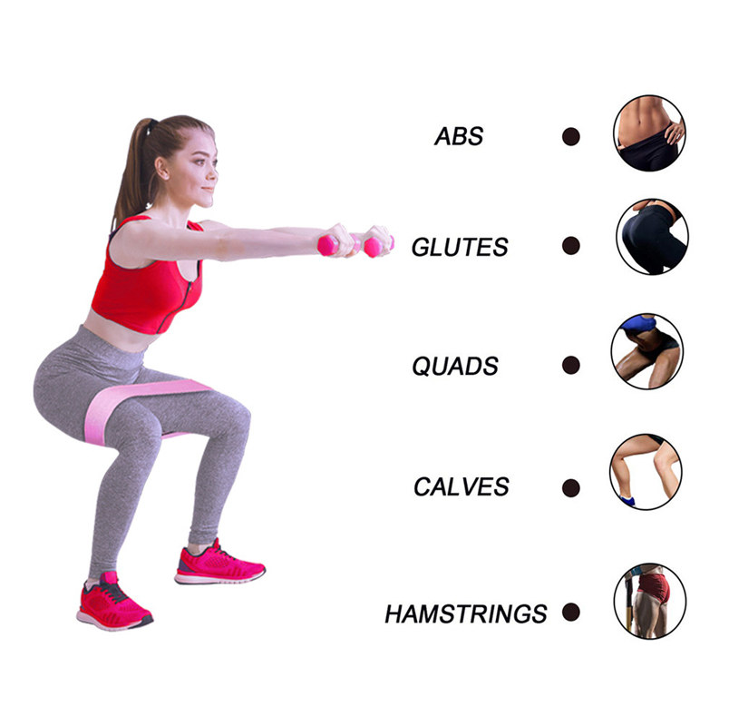 Fabric Resistance Bands Hip Circle Glute Booty Butt Exercise Loop Set Non Slip A
