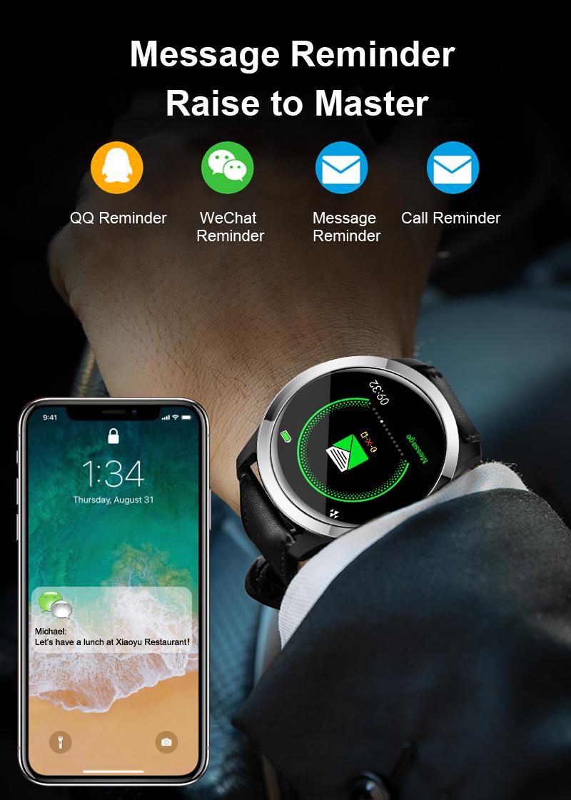 Smartwatch EKG PPG Uhr Blutdruck Sauerstoff Pulsmesser..