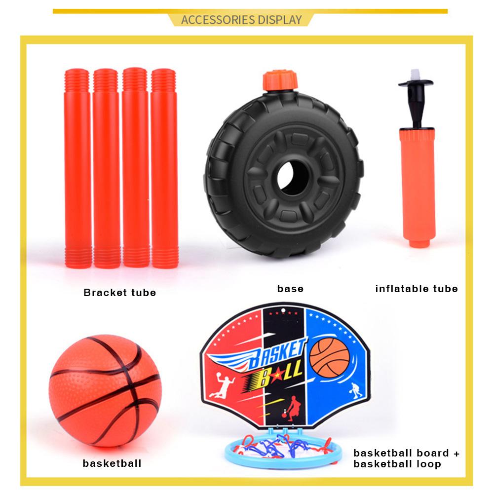 Children Kids Mini Adjustable Basketball Indoor Outdoor Play Net Hoop Set Sports