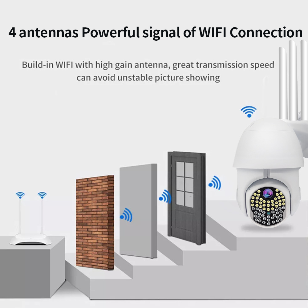with External TF 1080P HD PTZ Indoor IP Camera WiFi Audio Home Security G7A9